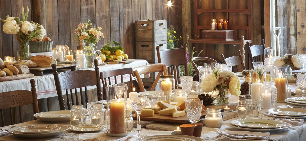 Table Setting for Thanksgiving meal