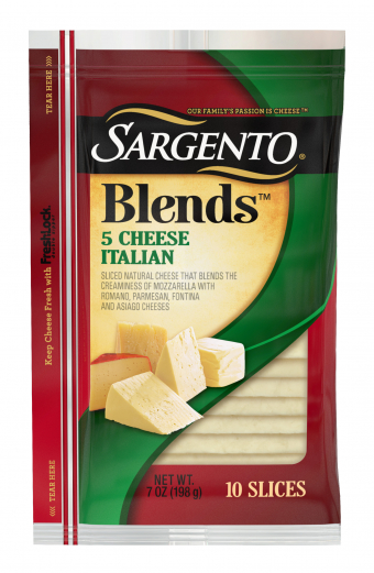 Sargento® Blends 5 Cheese Italian Slices
