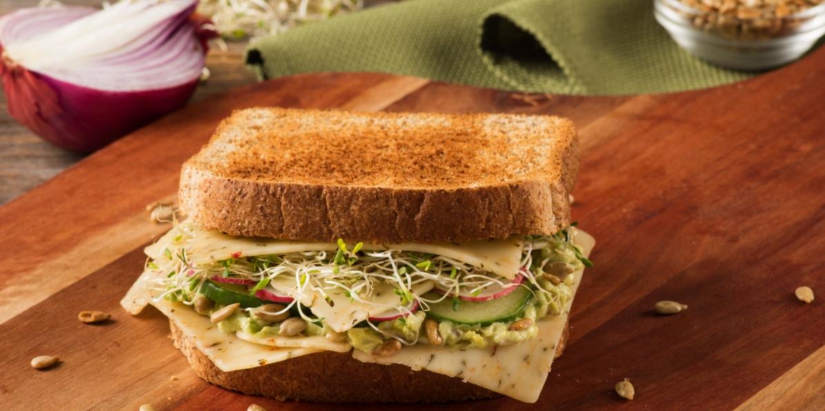 Avocado and Cucumber Power Sandwich