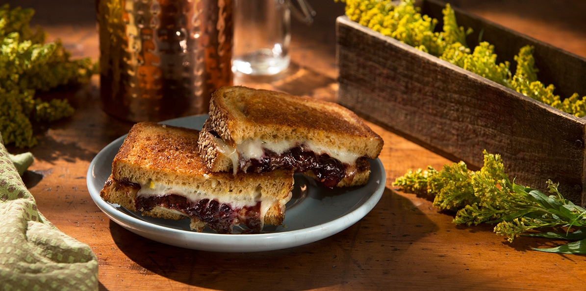 Cheddar, Cherry & Chocolate Grilled Cheese