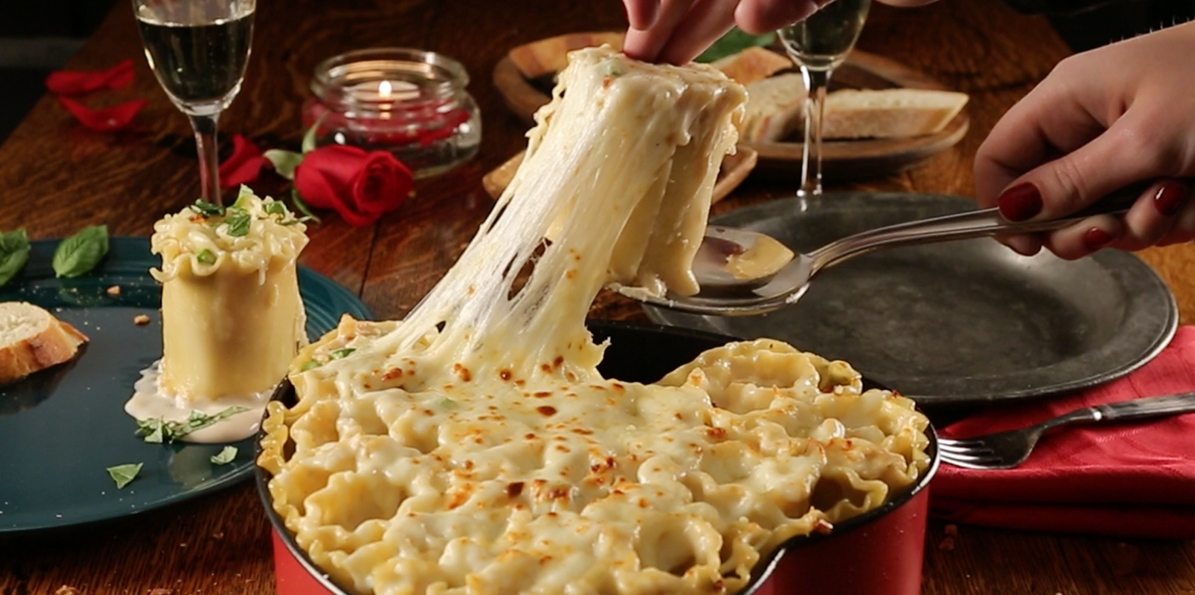 Heart Shape Lasagna Roll-Ups
