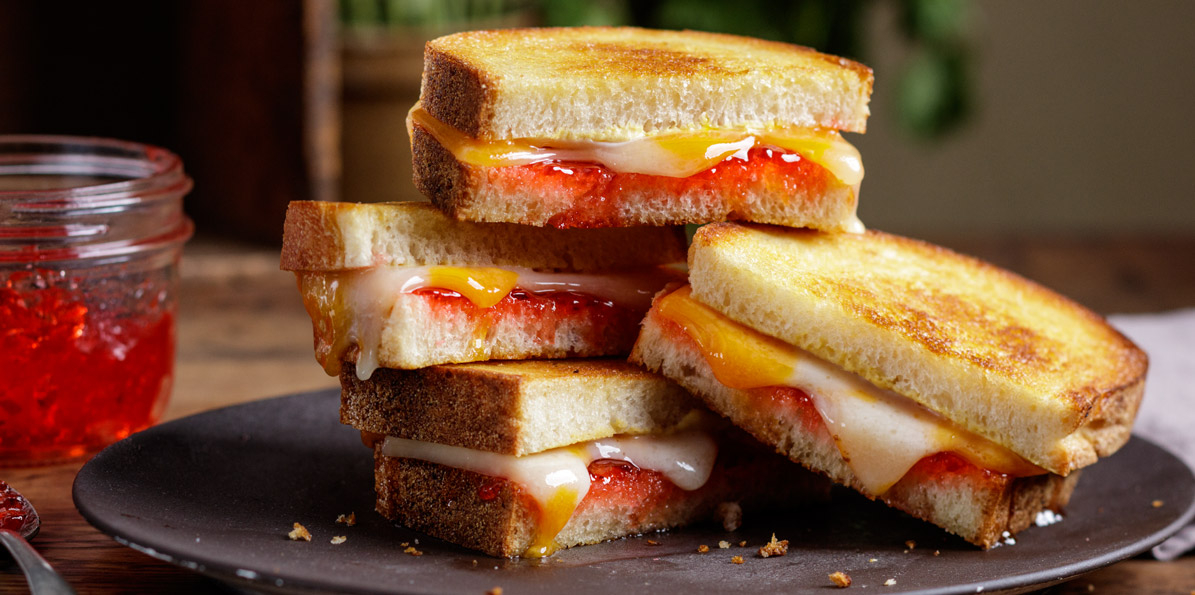 Red Pepper Jelly Grilled Cheese