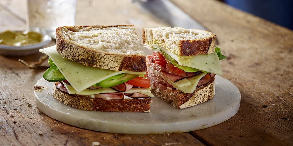 Roasted Ham & Cheese Sandwich