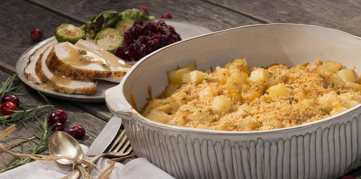Rosemary Cheese Crusted Potatoes