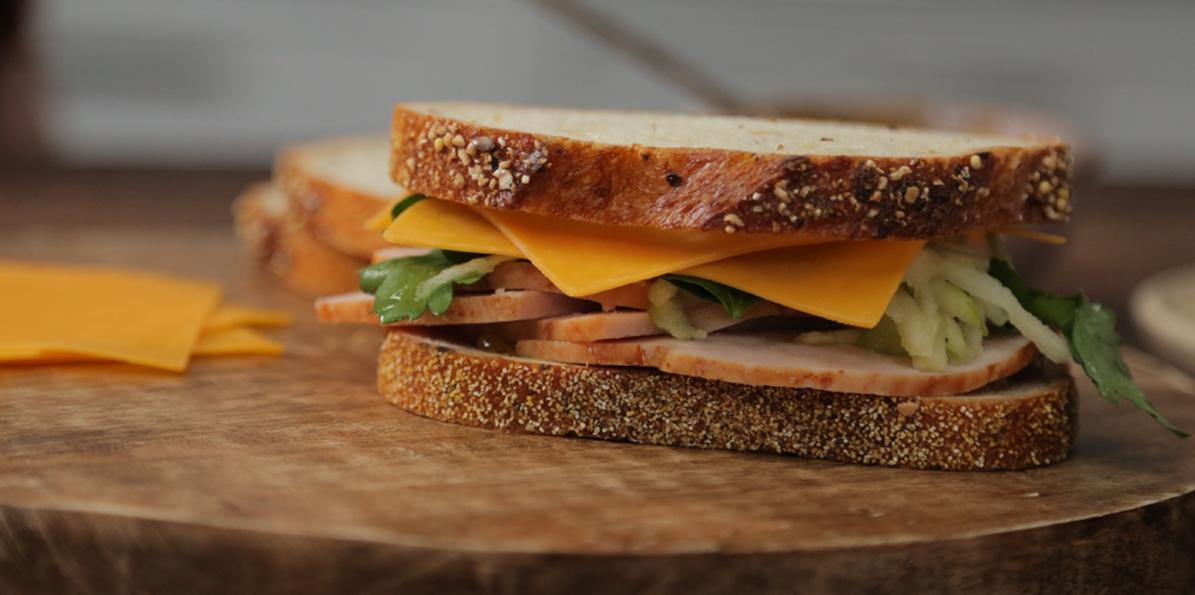 Turkey, Apple, And Cheddar Sandwiches