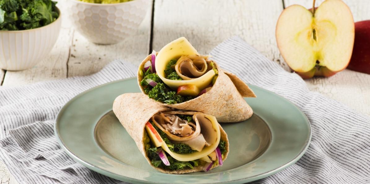 Turkey Wrap with Apple & Avocado Mayo