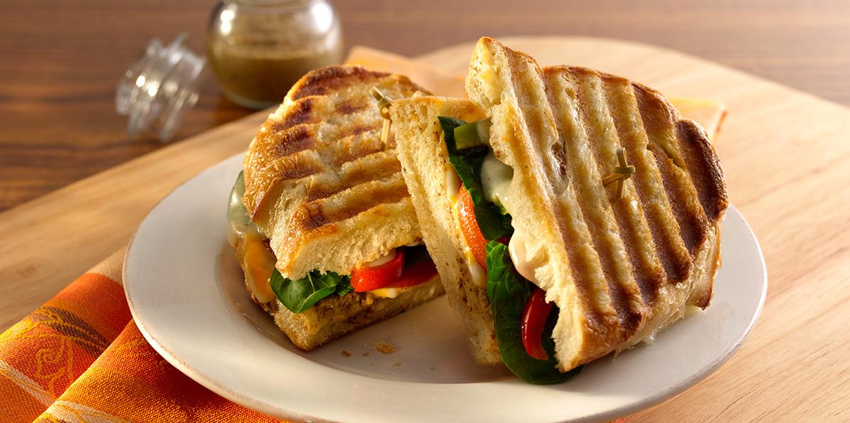 Vegetarian Grilled Panini Recipe | Sargento® Mozzarella