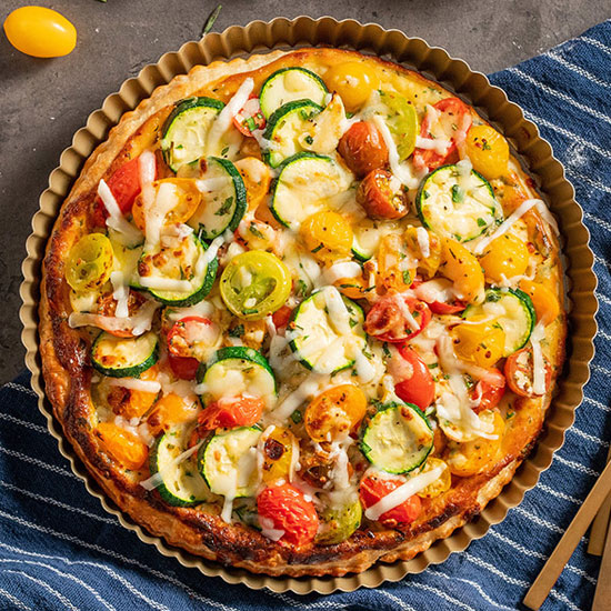 Italian Sweet Tomato, Cheese & Herb Tart