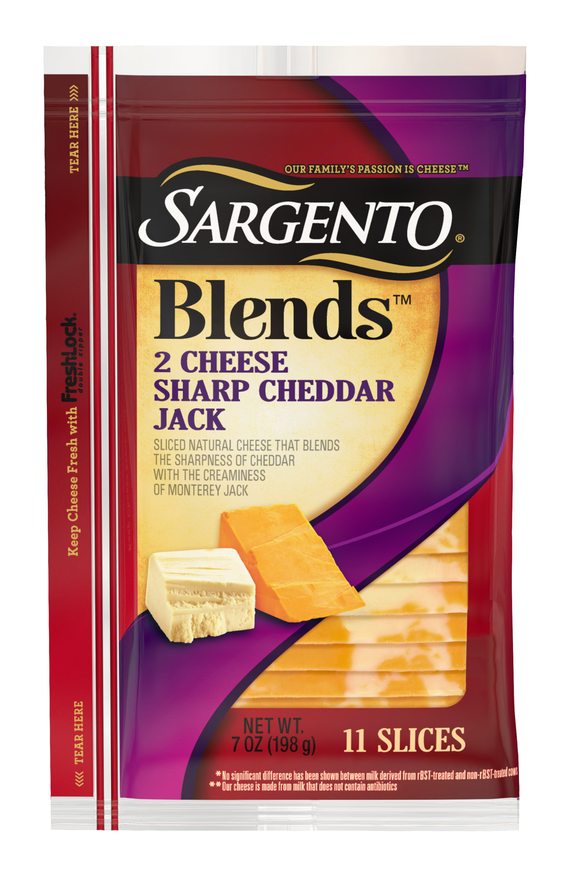 Sargento® Blends™ 2 Cheese Sharp Cheddar Jack Slices