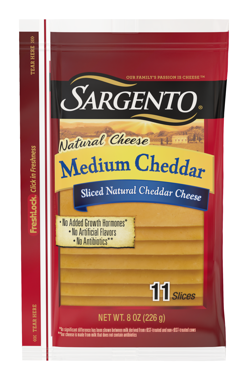 Sargento® Sliced Medium Natural Cheddar Cheese