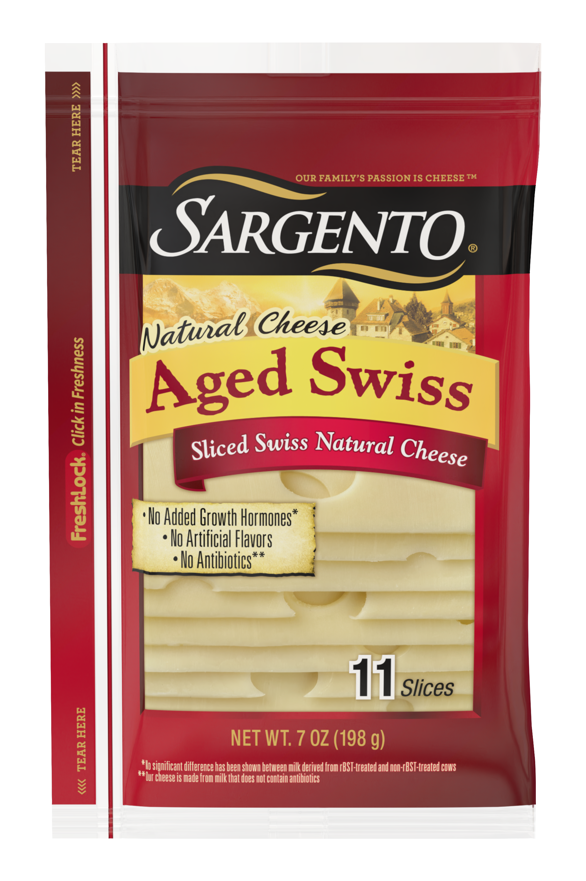 Sargento® Sliced Aged Swiss Natural Cheese
