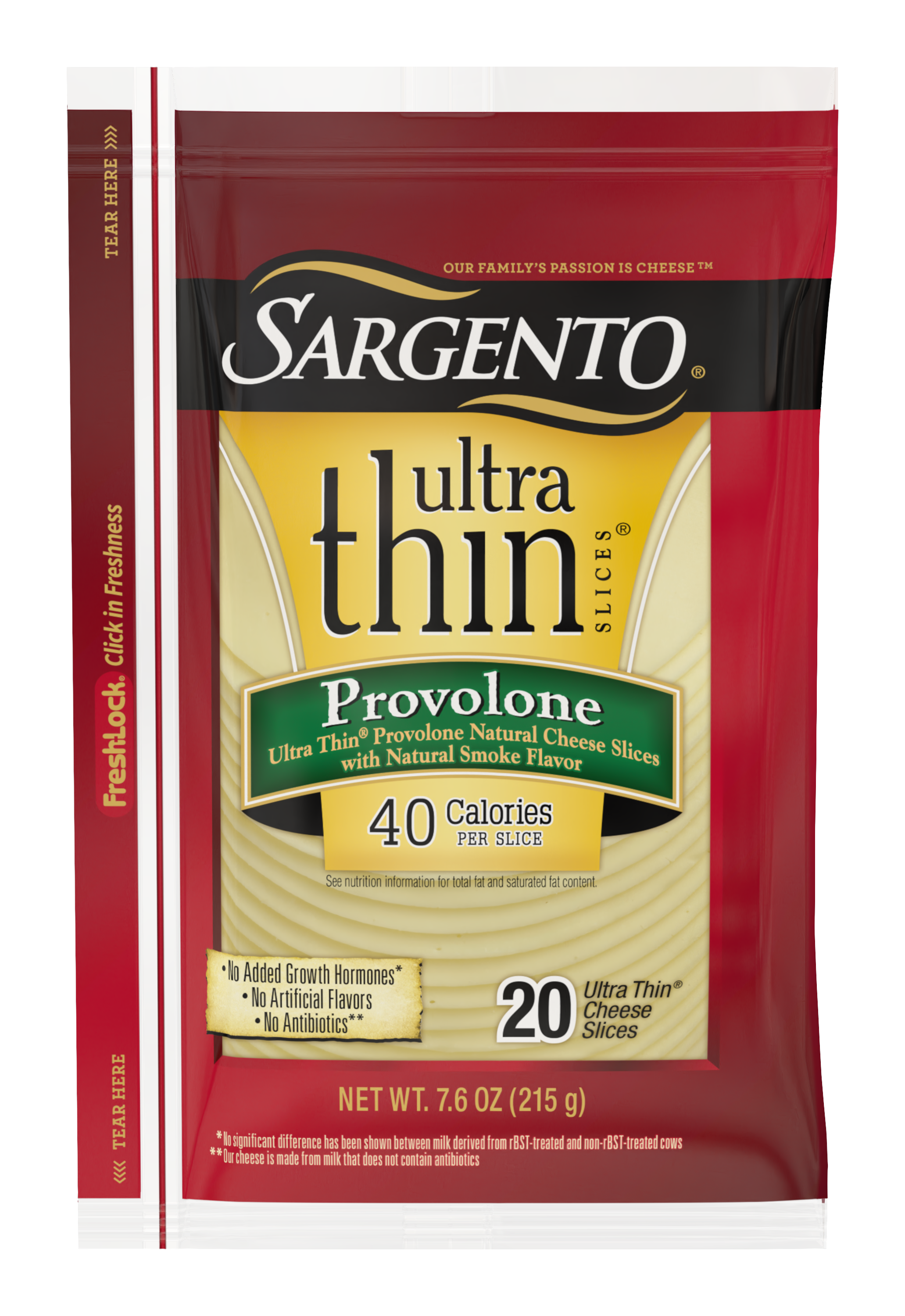 Sargento® Provolone Natural Cheese with Natural Smoke Flavor Ultra Thin® Slices