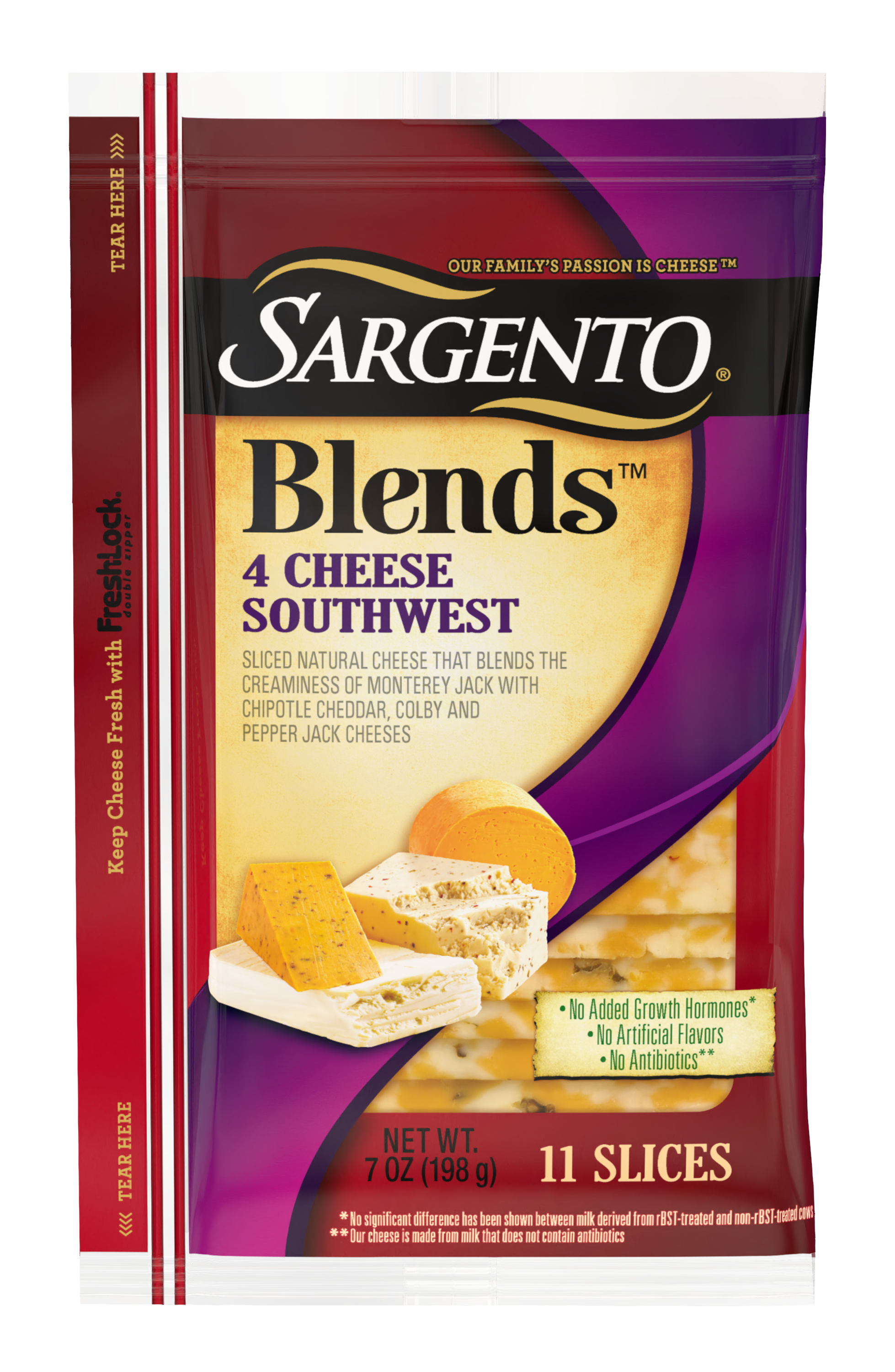Sargento® Blends™ 4 Cheese Southwest Sliced Natural Cheese