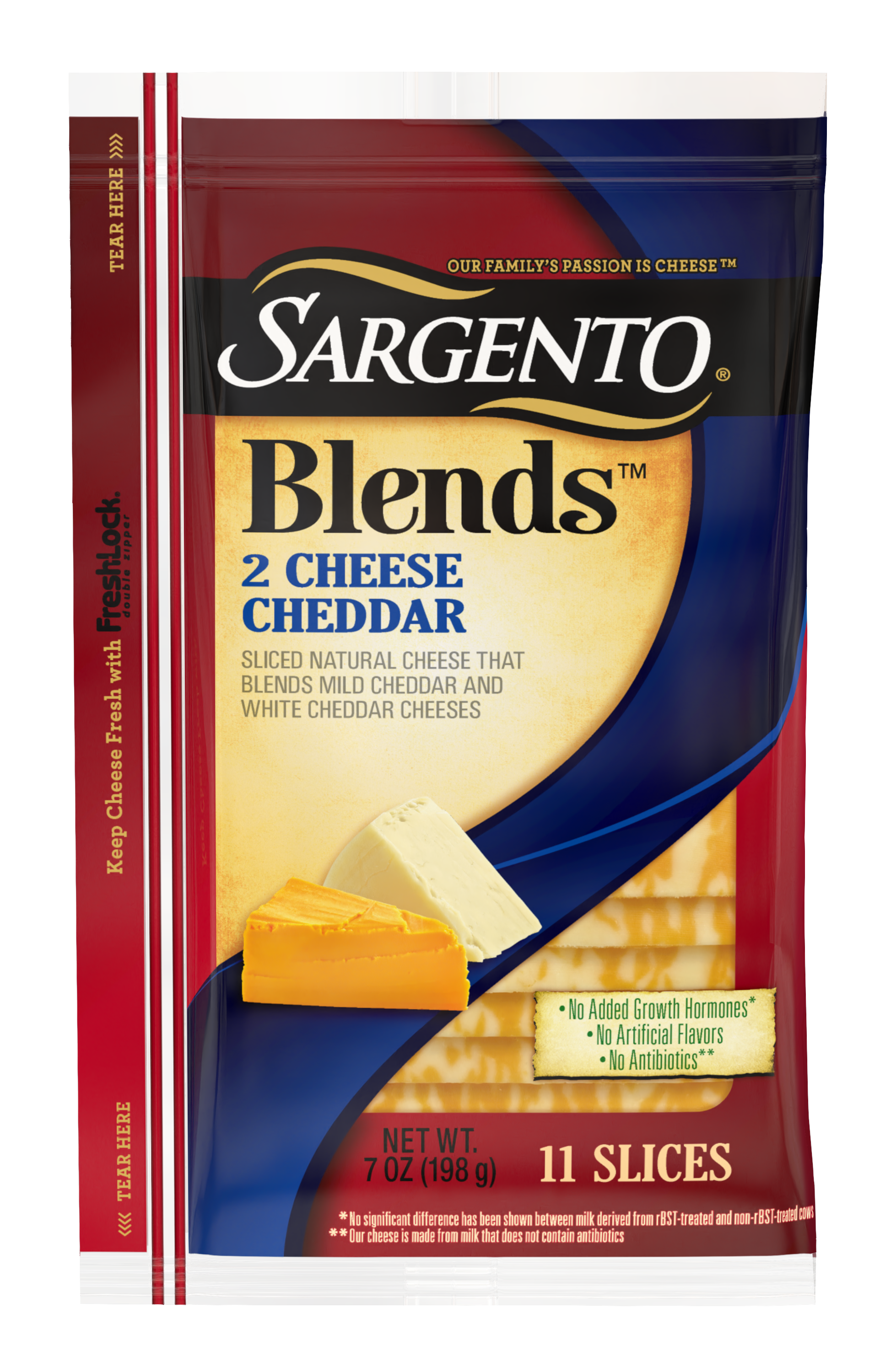 Sargento® Blends™ 2 Cheese Sliced Natural Cheddar Cheese