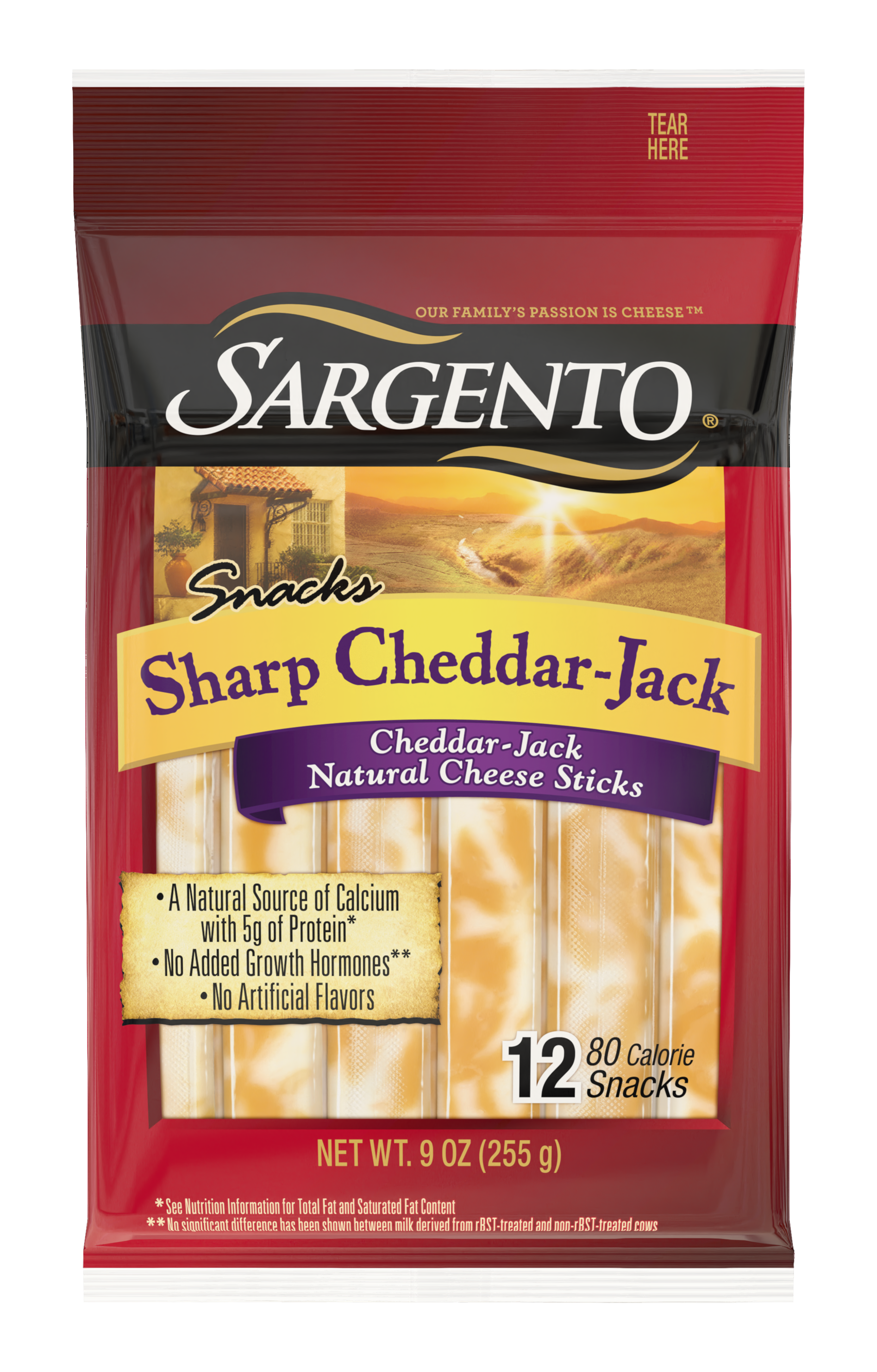 Sargento® Sharp Cheddar-Jack Natural Cheese Snack Sticks