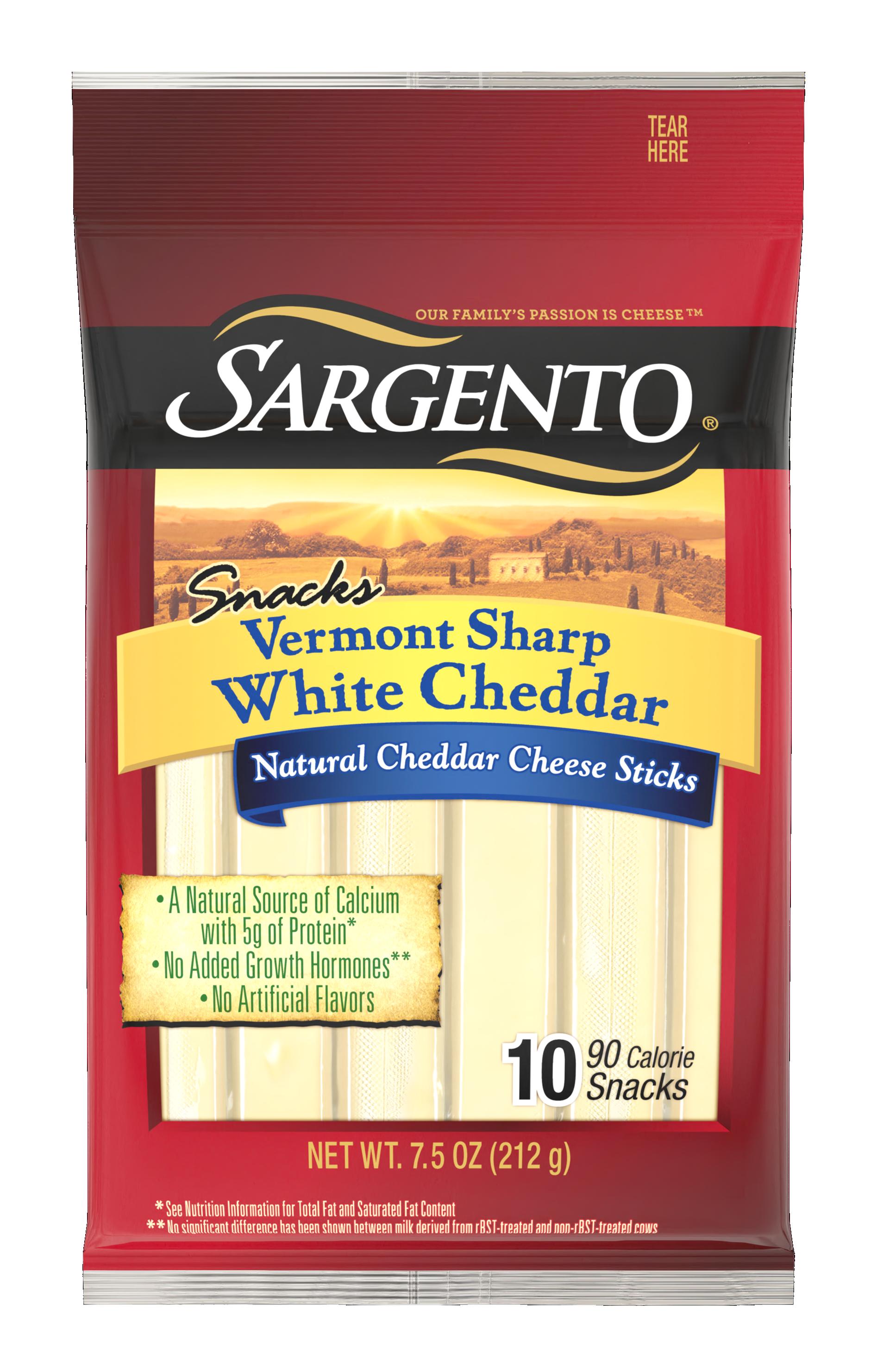 Sargento® Vermont Sharp White Natural Cheddar Cheese Sticks