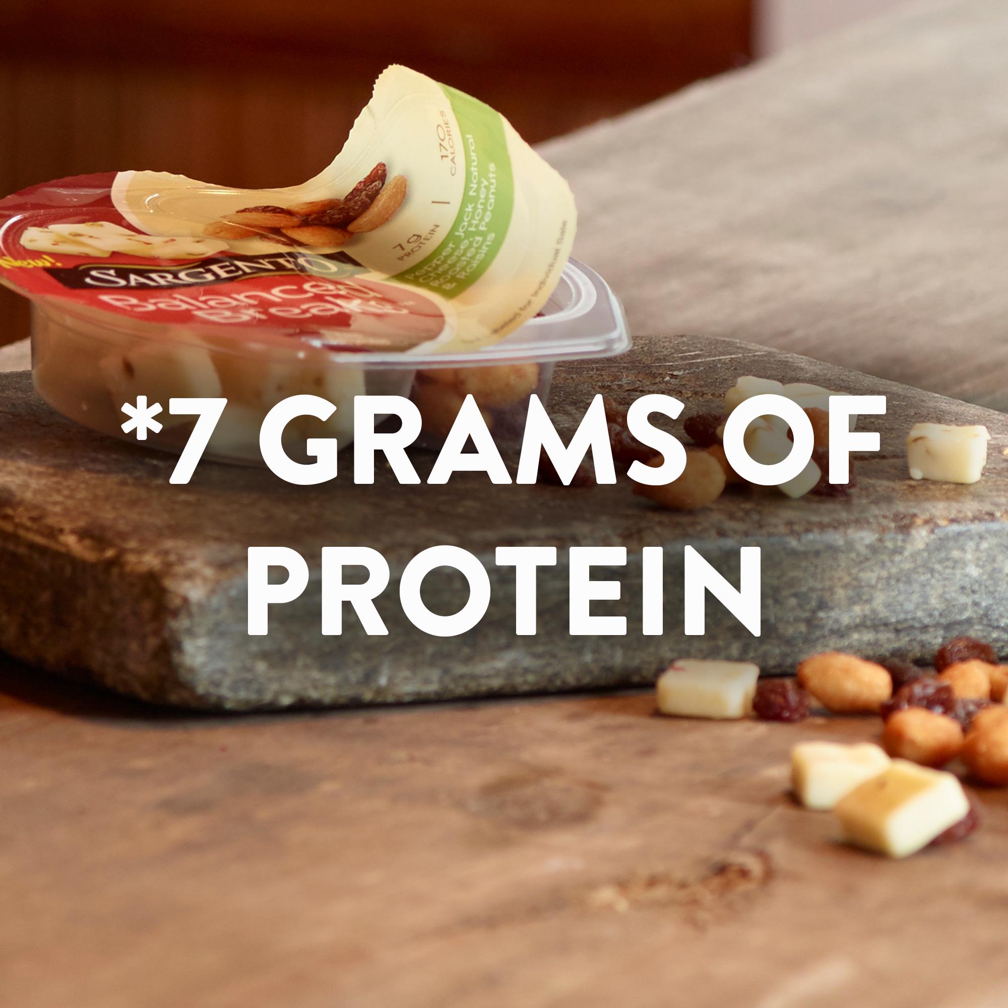 Sargento® Balanced Breaks®, Pepper Jack Natural Cheese, Honey Roasted Peanuts and Raisins