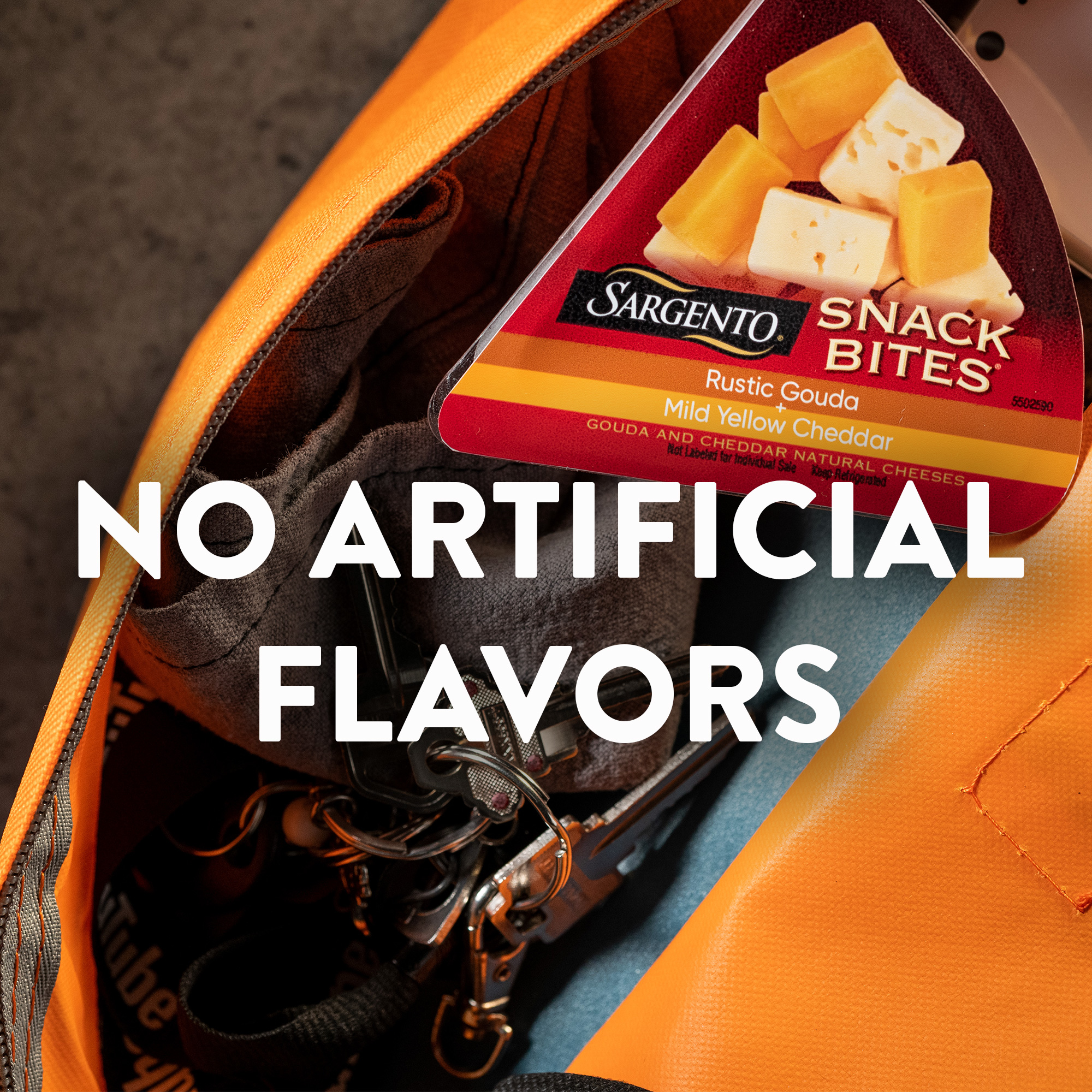 Sargento® Snack Bites® Rustic Gouda + Mild Yellow Cheddar Natural Cheeses