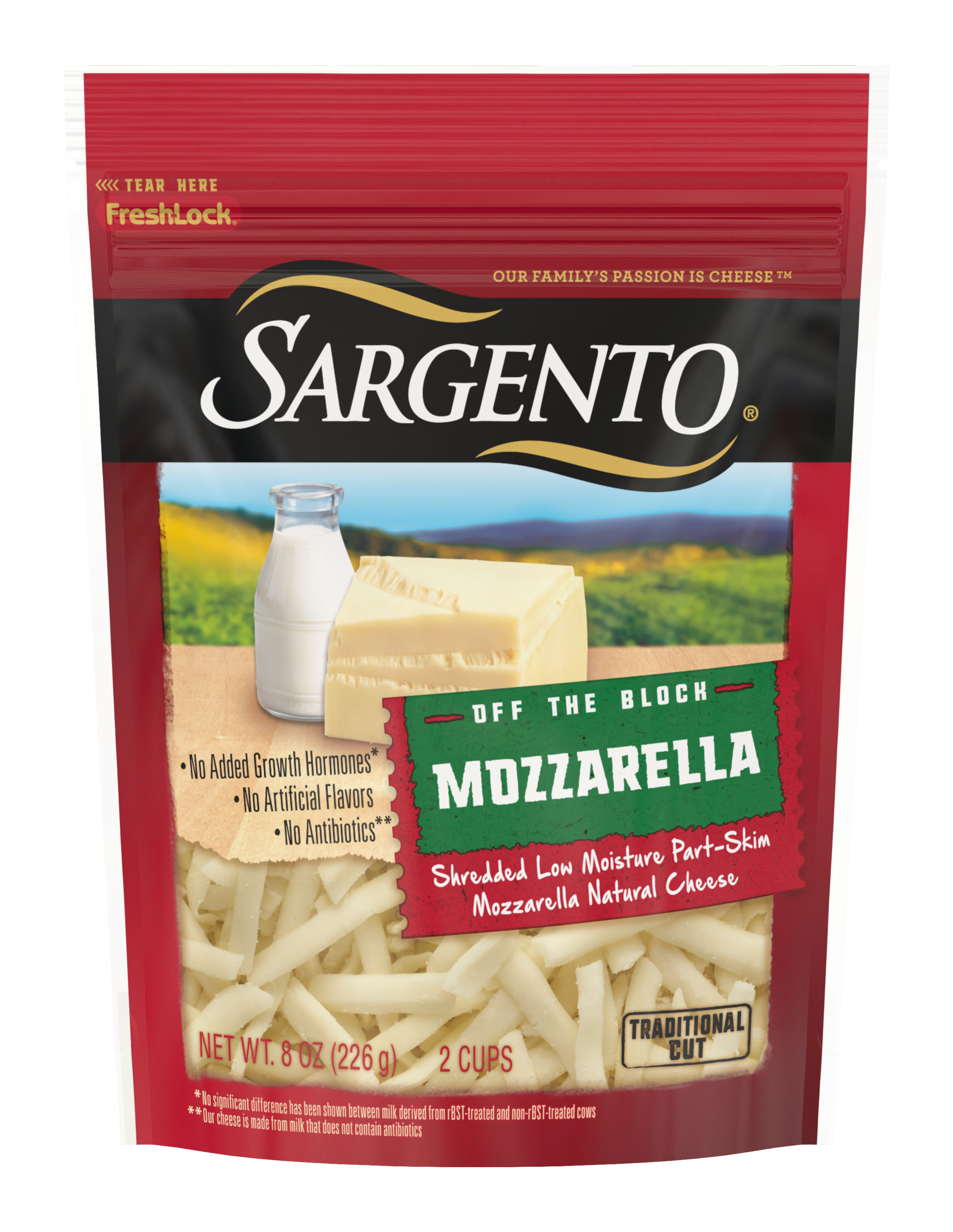 Sargento® Shredded Mozzarella Natural Cheese, Traditional Cut