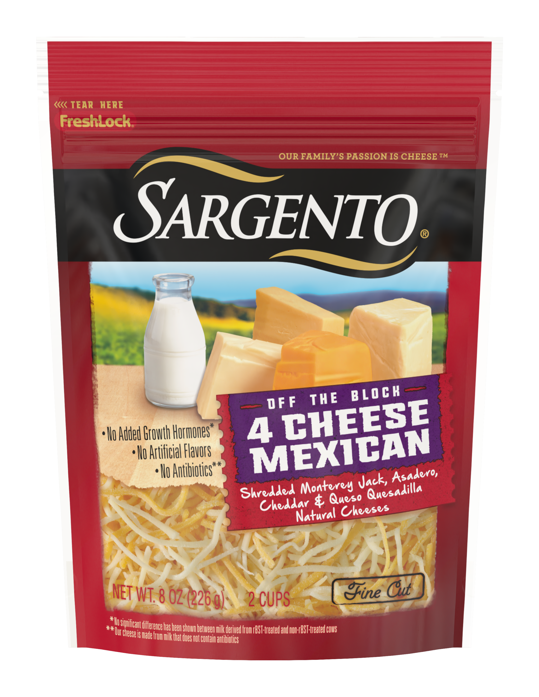 Sargento® Shredded 4 Cheese Mexican Natural Cheese, Fine Cut