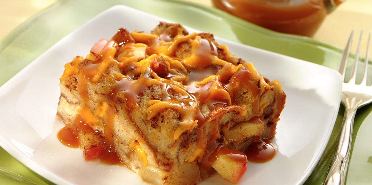 Apple Cheddar Bread Pudding | Sargento® Shredded Sharp ...