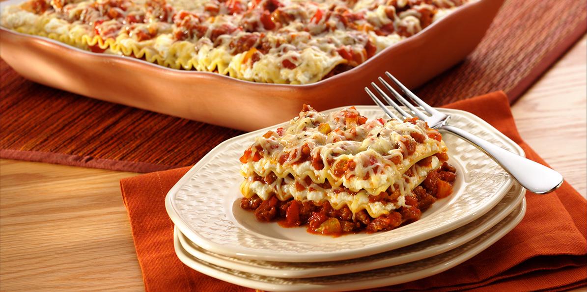 Sausage Pepper Lasagna Sargento 174 Ricotta Cheese
