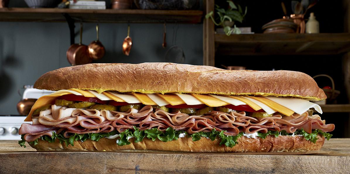 Oversized Turkey Amp Ham Hero Hoagie Sargento