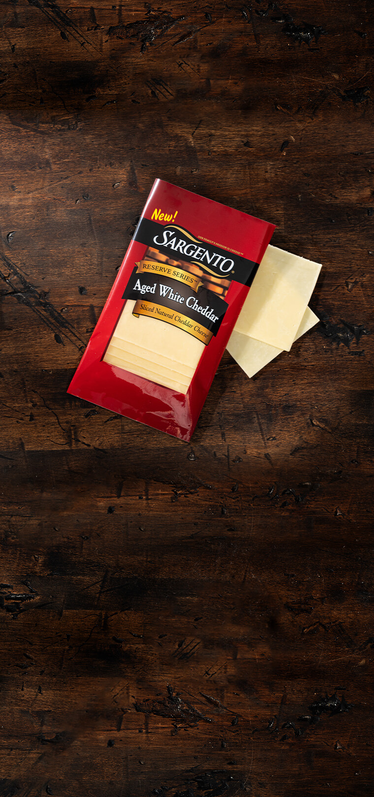 Reserve Series™ Slices Aged White Cheddar