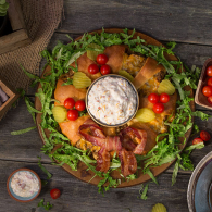 Sargento Cheeseburger Wreath