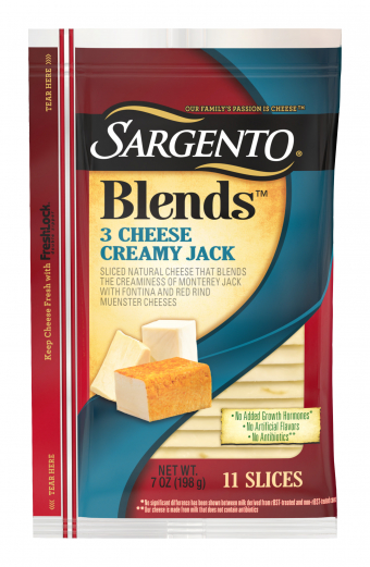 Sargento® Blends 3 Cheese Creamy Jack Slices
