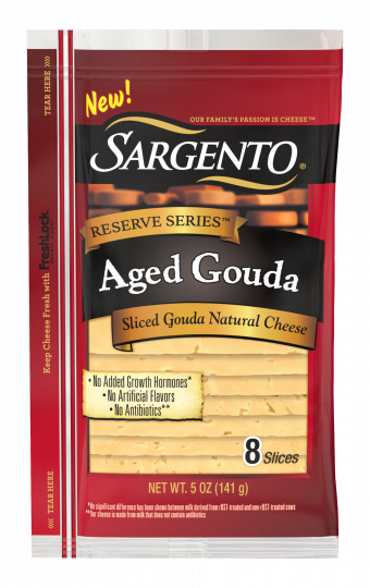 Sargento® Reserve Series™ Sliced Aged Gouda Natural Cheese