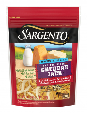 Sargento® Shredded Reduced Fat Cheddar Jack Cheese