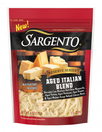 Sargento® Reserve Series™ Shredded Aged Italian Blend Cheese