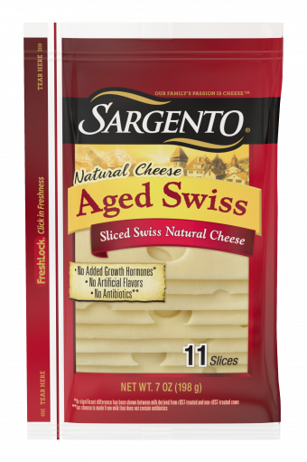 Sargento®Sliced Aged Swiss Natural Cheese