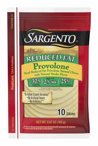 Sargento® Sliced Reduced Fat Provolone Natural Cheese with Natural Smoke Flavor