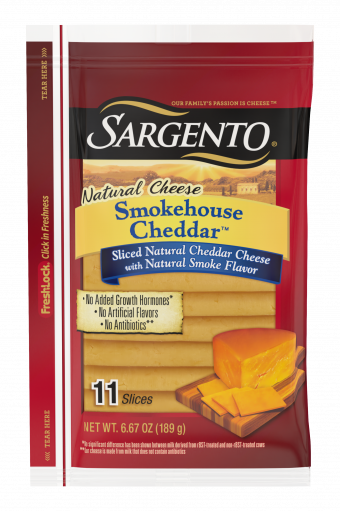 Sargento® Sliced Smokehouse Cheddar™ Natural Cheese