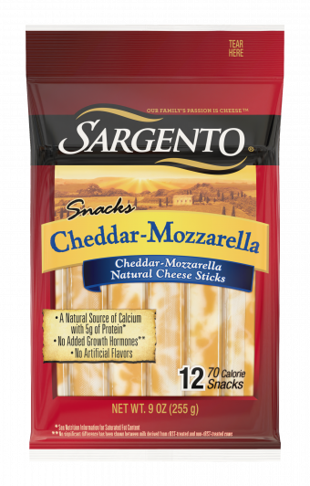 Sargento® Cheddar-Mozzarella Natural Cheese Snack Sticks