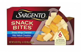 Sargento® Snack Bites® Sharp White Cheddar + Mild Yellow Natural Cheddar Cheeses