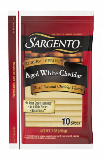 Sargento® Reserve Series™ Sliced Aged White Natural Cheddar Cheese