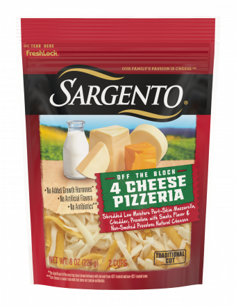 Sargento® Shredded 4 Cheese Pizzeria Natural Cheese