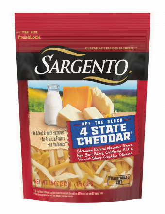 Sargento® Shredded 4 State Natural Cheddar Cheese