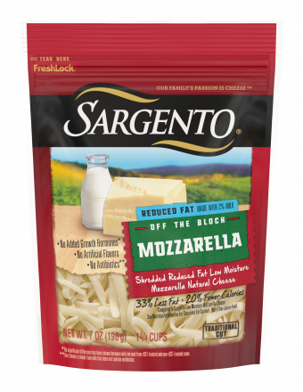 Sargento® Shredded Reduced Fat Mozzarella Natural Cheese