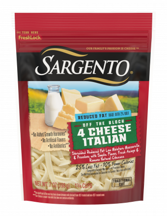 Sargento® Shredded Reduced Fat 4 Cheese Italian Natural Cheese