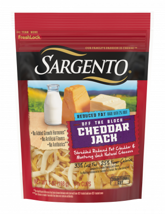 Sargento® Shredded Reduced Fat Cheddar Jack Natural Cheese