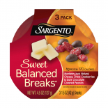 Sweet Balanced Breaks® Monterey Jack Natural Cheese with Dried Cranberries and Dark Chocolate Covered Peanuts