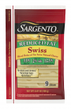 Sargento® Sliced Reduced Fat Swiss Natural Cheese