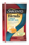 Sargento®Blends™ 3 Cheese Creamy Jack Sliced Natural Cheese