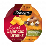 Sargento® Sweet Balanced Breaks®, Natural Cheddar Cheese, Sea-Salted Roasted Almonds, Raisins and Greek Yogurt Flavored Drops
