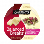 Sargento® Balanced Breaks®, Monterey Jack Natural Cheese, Apple Juice-Infused Dried Cranberries and Shelled Pumpkin Seeds