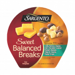 Sargento® Sweet Balanced Breaks®, Colby Natural Cheese, Dark Chocolate Covered Peanuts, Banana Chips and Creamy Peanut Drops